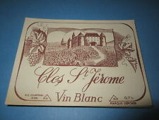 Wholesale Lot of 100 Old Vintage - Clos St Jerome Vin Blanc - French Wine LABELS
