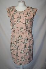 Marks and Spencer LIMITED Collection Peach Mix Birds Dress size 12
