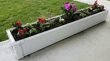 Jr. Handy Bed - White, Vinyl, Stackable Tongue & Groove Raised Garden Bed Kit