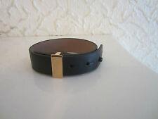 Lanvin Black Leather And Passant Bracelet