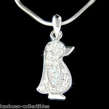 w Swarovski Crystal Cute ~Baby Emperor Penguin Antarctica Jewelry Charm Necklace