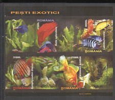 Romania 2005 Tropical Fish/Nature/Freshwater/Goldfish/Discus/Pets 4v m/s n15218