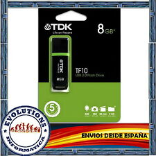 PENDRIVE TDK TF10 8GB MEMORIA USB UNIDAD FLASH PEN DRIVE NO 4 16 32 KINGSTON
