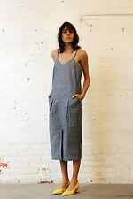 APIECE APART Kosmos Blue Sail Dress Size 6 - MNZ Totokaelo LaGraconne $365