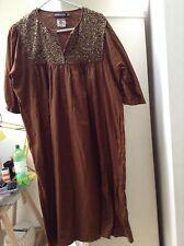 Antik Batik Cotton Dress With Sequins Sz M