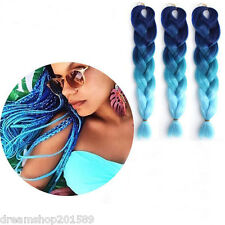 5pcs 500g Ombre Kanekalon Jumbo Braiding Synthetic Hair Extension Twist Braid