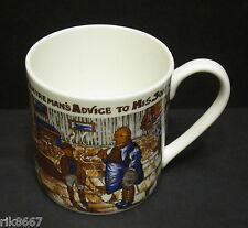 Extra Large English Fine Bone China One Pint Pot Mug YORKSHIREMANS ADVICE