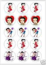 "15 x 2 ""Betty Boop Fondant pre corte Glaseado Cup Cake Toppers Decoración"