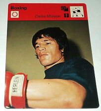 Carlos Monzon 1977 Sportscaster Boxing Card SRR Boxer The Iron Man ATG Argentina
