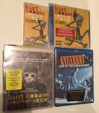 NIRVANA KURT COBAIN LOT OF 4. Montage Of Heck DVD Cassette Live At Paramount CD
