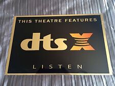 DTS X Cinema Sign