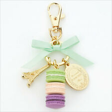 LADUREE JAPAN Pistachio Green Key Chain Ring Bag accessories Macaron with Box