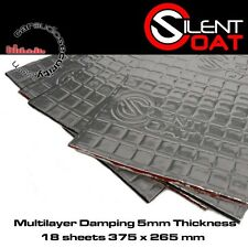 Silent Coat Multilayer Extra 5mm Bulk Pack 18 Sheets 375 x 270mm Deadening