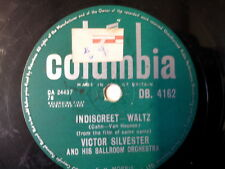 "78 rpm 10"" VICTOR SILVESTER indiscreet /a very precious"