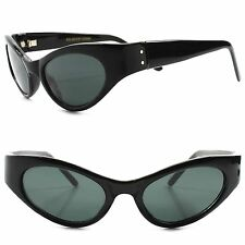 True Vintage Fashion Deadstock Classic Womens Stylish Black Cat Eye Sunglasses