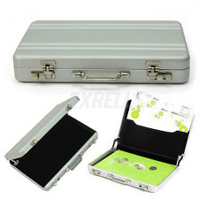 New Portable Mini Metal Briefcase Suitcase Business Name Card Holder Case Box