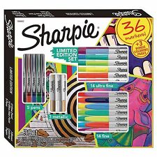 SHARPIE SET FINE TIP PERMANENT MARKERS 36 PIECES MULTI-COLOR