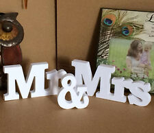 Hot Letters Mr and Mrs Wedding Reception Sign Wooden Table Top Centrepiece Decor
