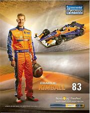 2015 CHARLIE KIMBALL novo nordisk INDIANAPOLIS 500 PHOTO CARD POSTCARD INDY CAR