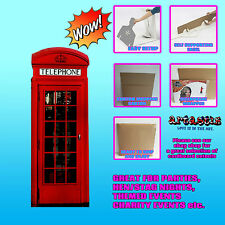 CLASSIC British  RED PHONE BOX LIFESIZE CARDBOARD CUTOUT STANDEE STANDUP SC162