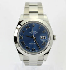 2014 Rolex Datejust 2 # 116300 stainless steel box papers mint blue dial 41 MM!!