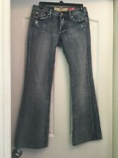 7 FOR ALL MANKIND A22 Great Wall 100% Cotton Blue Boot Cut Jeans Size 29 (28x29)