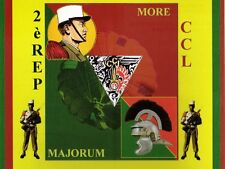 """Militaria - CP - 2ème Régiment Etranger Parachutiste/CCL - """"More Majorum"""""""