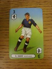 1947/1948 Pepys International Footballers: Scotland, Card No.03 - D Shaw. This i