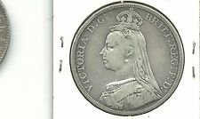 GREAT BRITAIN UK 1889  1 CROWN SILVER COIN