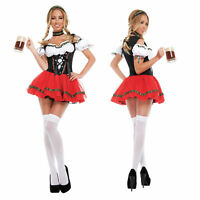 Sexy Oktoberfest Beer Maid Wench German Bavarian Heidi Fancy Dress Costume