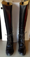 Black Leather Riding Boots Made in USA Size 9.5