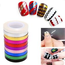 Black Rolls Striping Tape Line DIY 3D Nail Art Tips Decor Sticker  Nail Polish