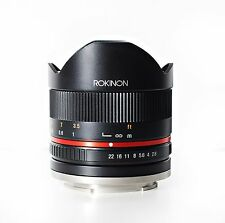 Rokinon 8mm F2.8 UMC Fisheye II (Black) Lens for Fuji X Cameras - New!