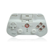 JOYSTICK BIANCO CONTROLLER JOYPAD BLUETOOTH 3.0 WIRELESS ANDROID IOS GIOCO NERO
