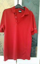 Mens Nike Golf Polo Shirt Dri-Fit Short Sleeves Top Red VGC