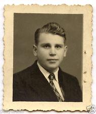 Portrait identité photomaton jeune homme - photo ancienne an. 1950
