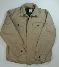Chaps Canvas Tan Barn Jacket Fleece Lined Men's L Ralph Lauren Brand 100% Cotton