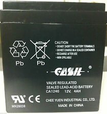 Casil Genuine CA1240 12V 4Ah SLA Alarm Battery Brand New 2016