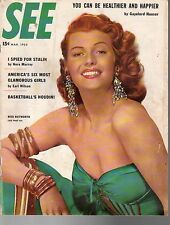 1953 SEE March-Rita Hayworth; Flying Saucers;Marilyn Monroe;Bob Cousy;Stalin Spy