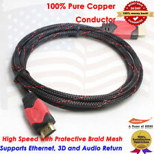 Premium Gold Plated HDMI to HDMI Cable 1080p, PS3, Blu-Ray DVD, Xbox 360, 6 Feet