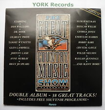 GREAT COUNTRY MUSIC SHOW - Various - Ex Double LP Record Ronco rtd 2083