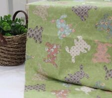 Rabbit Patch 100% Cotton Remnant  fabric 110 x 22.5cm Quilting fabric off cut e*