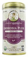 Zhena's Gypsy Tea - White Tea Ambrosia Plum - 22 Tea Bags