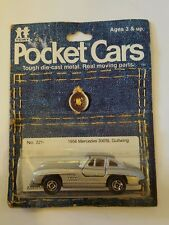 1982 TOMY DIECAST POCKET CARS 1956 MERCEDES 300 SL GULLWING UNPUNCHED CARD