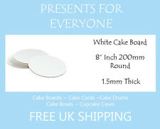"5 x 8"" Round White Cake Board FREE SHIPPING"