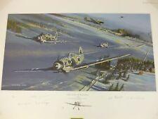 Petsamo Scramble Remarque by Robert Bailey 5 German Luftwaffe signers