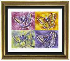 "Andy Warhol Signed & Hand-Numberd Limited Edition ""Butterflies"" Lithograph Print"
