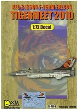 DXM decal 1/72 Klu 313SQN F-16AM TIGERMEET 2010