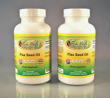 Flax seed Oil 1000mg, cholesterol, prostrate ~200 (2x100) soft gels. Made in USA