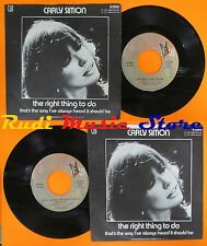 LP 45 7''CARLY SIMON The right thing to do That's 1971 italy ELEKTRA cd mc dvd